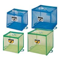 山崎産業 折りたたみ式回収ボックス - 再生PETを使用し、水洗い可能の回収ボックス