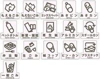 山崎産業 分別シール F(ダストボックス用・透明タイプ)