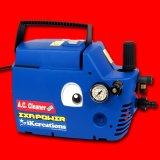 【吐水ホース5m+10m】エクサパワーAC - 高吐出力洗浄ガン付・高耐久エアコン洗浄機セット(圧力計付)