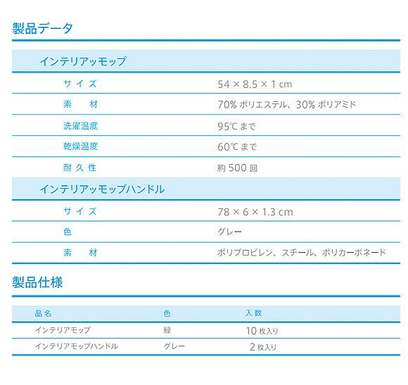 シーバイエス TASKI インテリアモップ(10枚入) 03