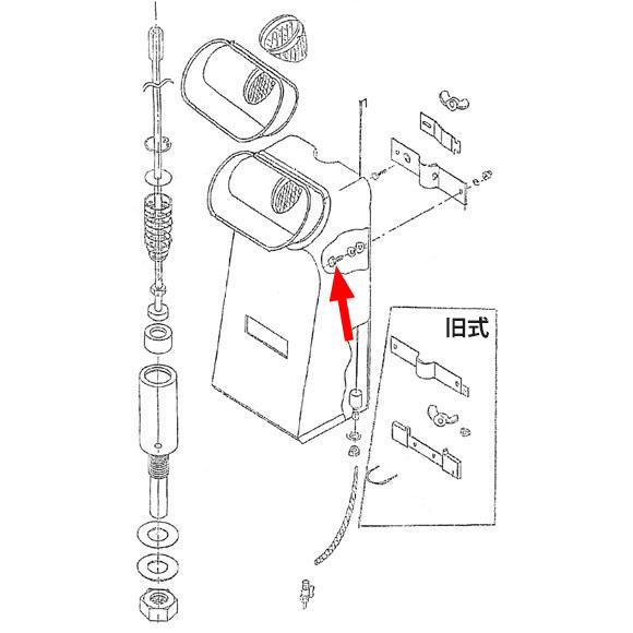 musashi製シャンピングタンク用パーツNo.3タンク取付ボルト(4個入) 01