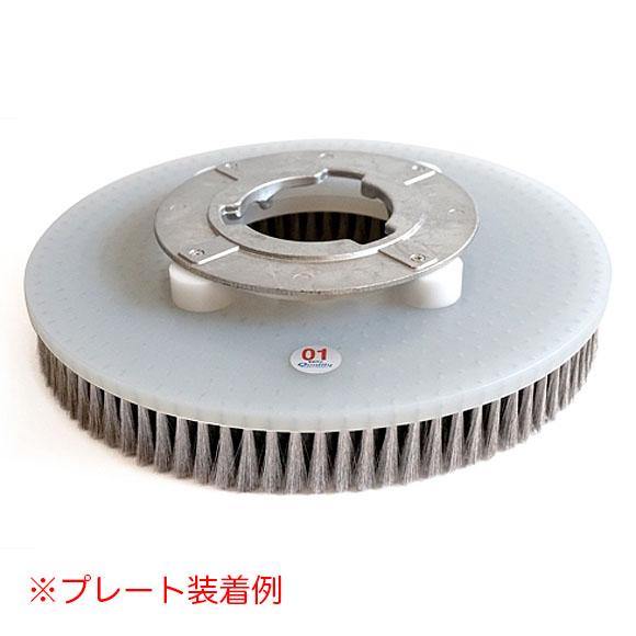 クオリティ Q-PLATINUM・α・ゼロワン(キュープラチナム・アルファ・ゼロワン) 15インチ(コラムス仕様) - タイルカーペット専用高耐久ステンレスブラシ