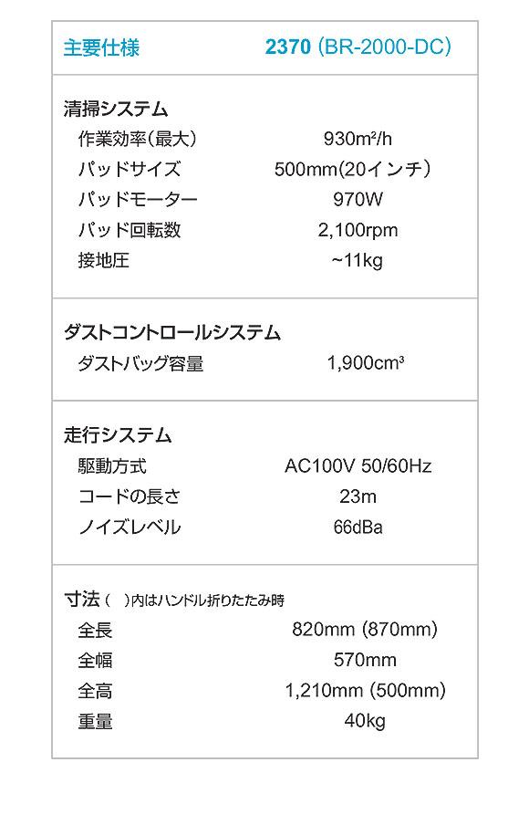 【リース契約可能】テナント 2370 - コード式バーニッシャー[20インチパッド]【代引不可】04