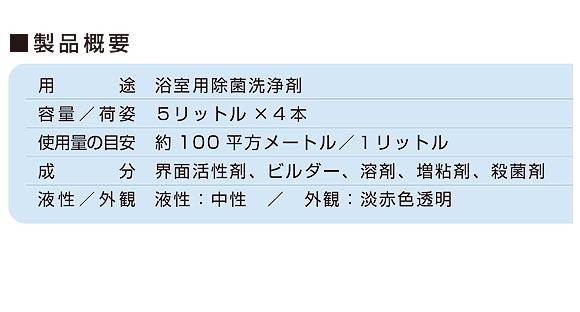 ユーホーニイタカ サニバスクリーナー[5Lx4] - 殺菌剤配合中性洗剤 02