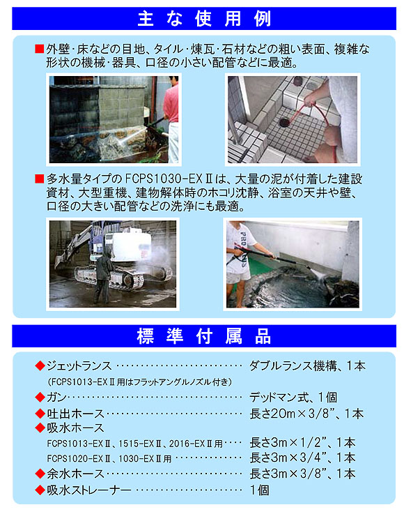 蔵王産業 ジェットマン FCPS-EXIIシリーズ - 静音型ガソリンエンジン式高圧洗浄機 04