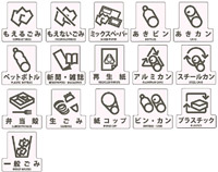 ダストボックス用分別シール F(透明タイプ)