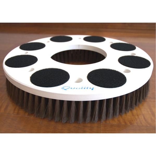 Q-PLATINUM・α(キュープラチナム・アルファ) - パッド台に取り付けできる!エンボス汚れに最適なポリッシャー用極細ステンレスブラシ