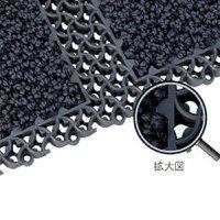 スリーエム ジャパン ノーマット ミニモジュラーマット 9200 (グレー) [10枚入] - 〈屋外用〉エントランス用マット 丈夫な構造とカーペットの組み合わせで1枚2役
