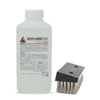 クオリティ ラバーメイド専用スリーインワン ステンレスブラシ&ヒールマーク専用洗剤 スリーインワン 500mL セット