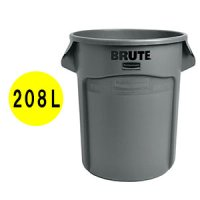 ラバーメイド VENTED BRUTE 丸型コンテナ グレー 55ガロン (208L)【代引不可】 #RU取寄1,200円