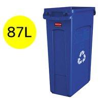 ラバーメイド VENTED Slim Jim リサイクルコンテナ(ブルー) 23ガロン(87L) #RU取寄1,296円