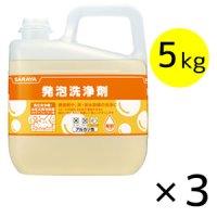 サラヤ 発泡洗浄剤 [5kg ×3] - 油汚れ用洗浄剤