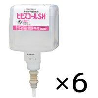 サラヤ ヒビスコールSH [600mL×6個] - 速乾性手指消毒剤 UD-8600A/MD-8600A用