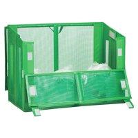テラモト 自立ゴミ枠II 折りたたみ式 緑 - 軽量で折りたためて設置も簡単なゴミ枠【代引不可】