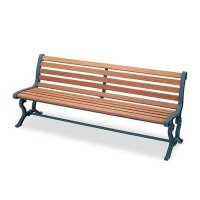 山崎産業 ベンチYB-78L-WN(背付肘なし) - 屋外にも設置できる天然木仕様のベンチ【代引不可】