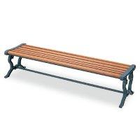 山崎産業 ベンチYB-79L-WN(背なし) - 屋外にも設置できる天然木仕様のベンチ【代引不可】