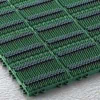山崎産業 エバック ブラシハードマットYL - タフな芝毛とブラシのダブル効果で細かな汚れまで落とす