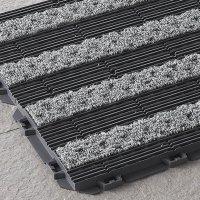山崎産業 樹脂システムマット テキスタイルライン - ジョイントタイプの風除室マット