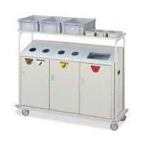 山崎産業 リサイクルボックス RBK-500TRP 2段キャリー - キャスター付きで移動も簡単なリサイクルステーション【代引不可】