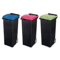 山崎産業 リサイクルカート#90エコ - 再生素材を利用した環境にやさしいキャリー型ペール