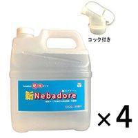 コスケム 新NEBADORE(ネバドーレ)[4Lx4] - 粘性タイプ塗料壁面用雨だれ除去用クリーナー