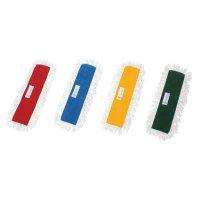万立(白馬) 水拭き用らくらくモップ替糸 45cm 10枚 - 赤、青、黄、緑でゾーニング