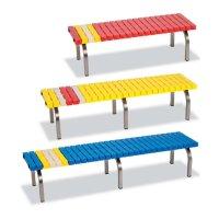テラモト ホームベンチステン - サビに強く耐久性の高いベンチ【代引不可】
