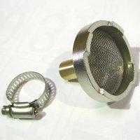 ストレーナーK(ホースバンド付) - エアコン洗浄機吸水ホース用ろ過器