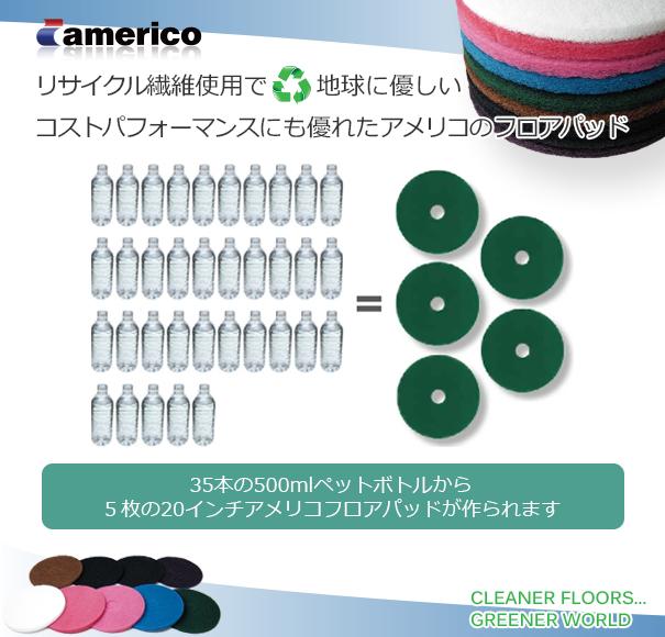 リサイクル繊維使用で地球に優しいコストパフォーマンスにも優れたアメリコのフロアパッド