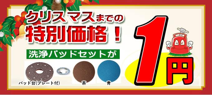 クリスマスまで!洗浄パッドセット1円キャンペーン!