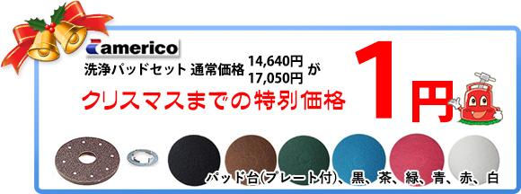 americo洗浄パッドセットがクリスマスまでの特別価格1円