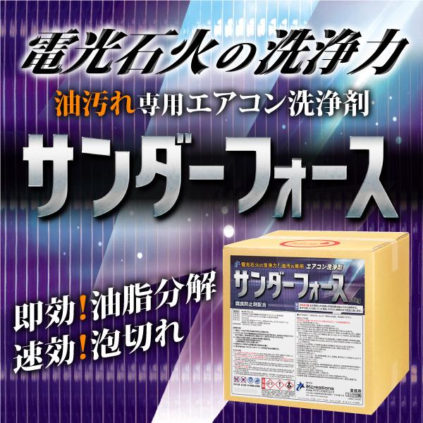 電光石火の洗浄力!油汚れ専用 エアコン洗浄剤「サンダーフォース」発売!