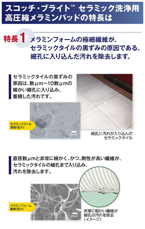 スリーエム ジャパン スコッチ・ブライト セラミック洗浄用高圧縮メラミンパッド 03