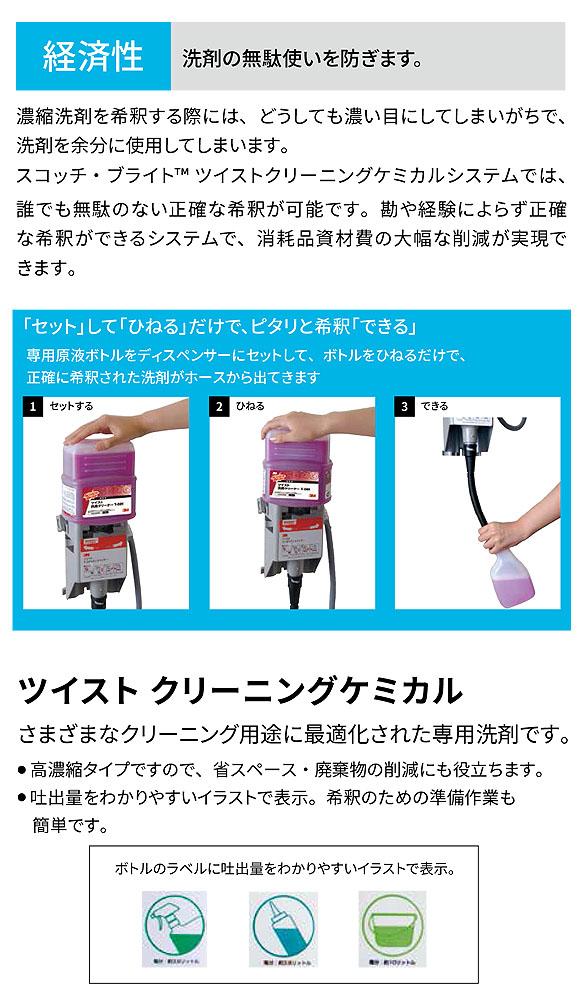 スリーエム ジャパン ツイストクリーニングケミカル  [2L×2] - 高濃縮洗剤 03