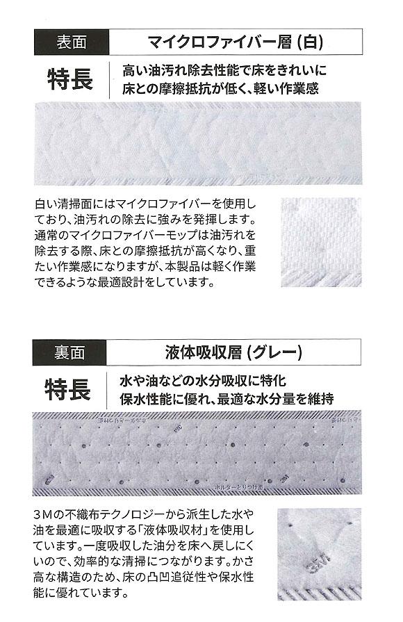 スリーエム ジャパン 水が出るモップツール ウエットディスポーザブルモップキット Mサイズ 04