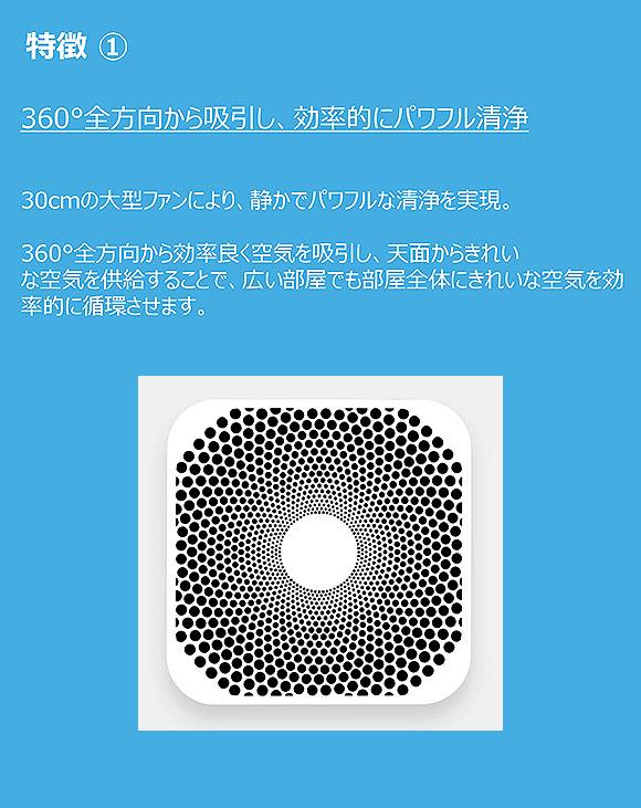 Blueair(ブルーエアー) Blue Pure 221 Particle(ブルー ピュア 221 パーティクル) -  360°全方向パワフル吸引空気清浄機 02