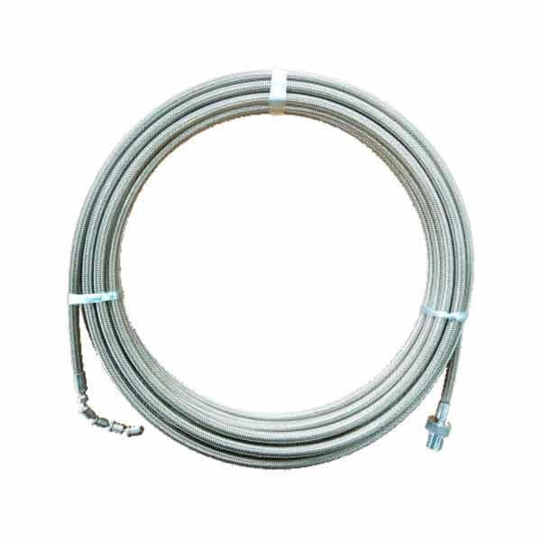 排水管洗浄ホース・洗管ホース1.2分サイズ(ステンレスワイヤーブレードホース) SNH01