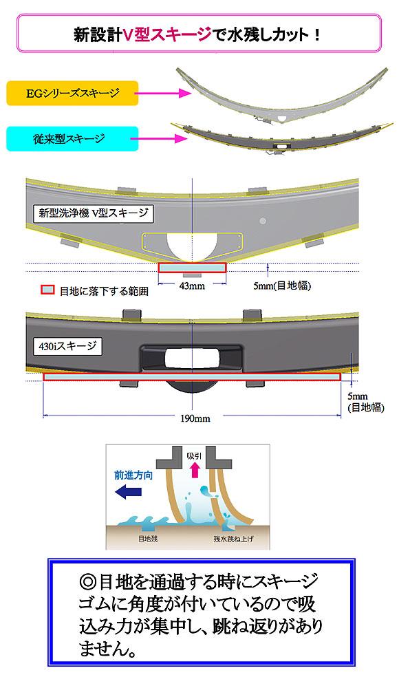 【リース契約可能】アマノ EGシリーズ  EG-1 - 小型自動床面洗浄機【代引不可】 04