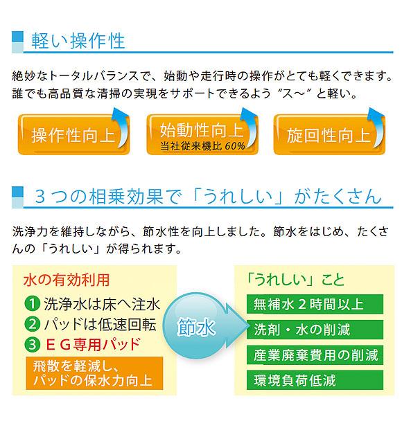 【リース契約可能】アマノ EGシリーズ  EG-1 - 小型自動床面洗浄機【代引不可】 05