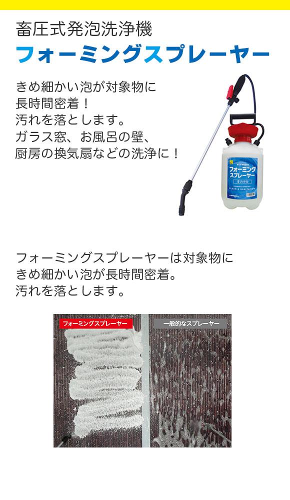 FPS フォーミングスプレーヤー - 蓄圧式発泡洗浄機 01