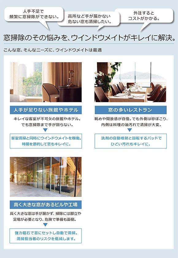 窓ガラス掃除ロボット windowmate ( ウインドウメイト ) WMシリーズ_01