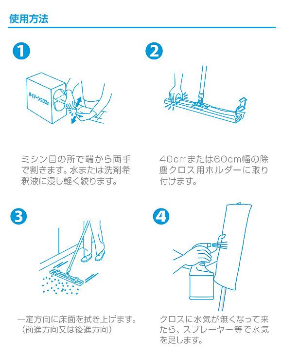 シーバイエス ハイジーンクロスWet45/Wet60 - 業務用使い捨て除塵&水拭きクロス 04