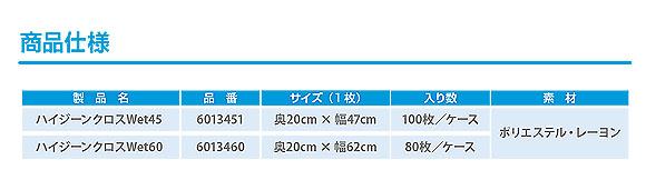 シーバイエス ハイジーンクロスWet45/Wet60 - 業務用使い捨て除塵&水拭きクロス 05