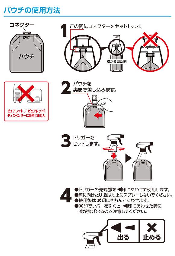シーバイエス ピュアレットミントスプラッシュ [450mLx12パック] - 業務用 除菌・除ウイルス消臭剤 商品詳細04