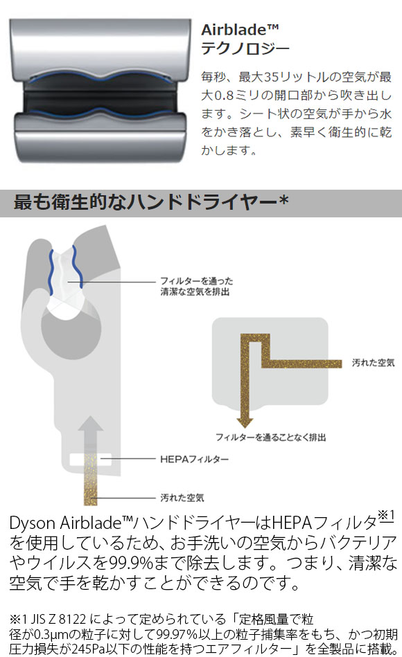 ダイソン Dyson エアブレード Tap - 蛇口と一体になった Airblade™ハンドドライヤー03