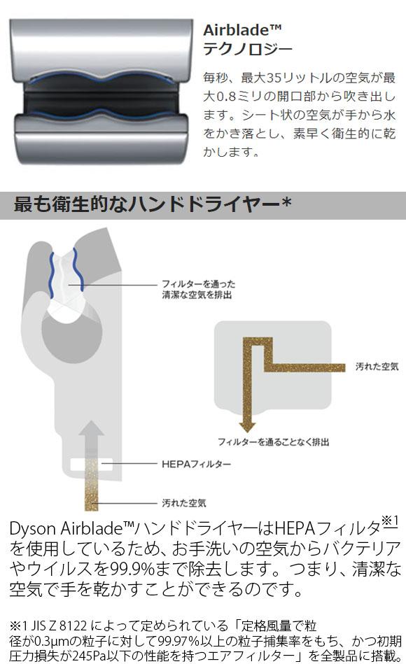 ダイソン Dyson エアブレード V AV12- テクノロジーが凝縮した Airblade™ハンドドライヤー03