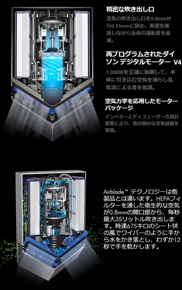 ダイソン Dyson エアブレード V AV12- テクノロジーが凝縮した Airblade™ハンドドライヤー06