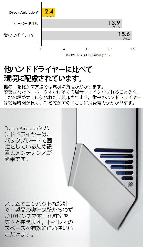ダイソン Dyson エアブレード V AV12- テクノロジーが凝縮した Airblade™ハンドドライヤー10