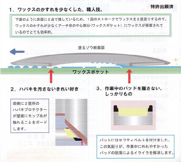 塗るゾウ君 - ワックス塗布モップ 01
