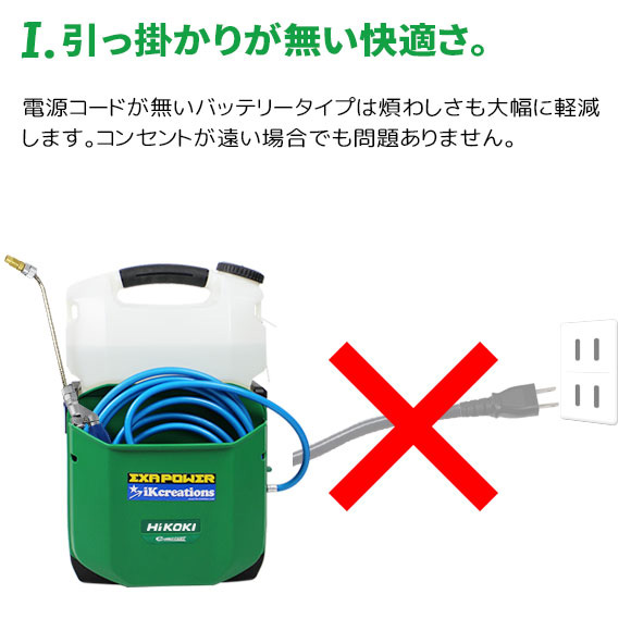 ■セッティング簡単!■エクサパワーMOVE(ムーヴ) - 特殊屈曲洗浄ガン付属コードレスエアコン洗浄機01